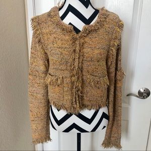 Anthropologie Tweed Pullover Sweater M